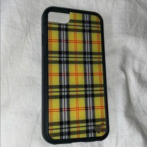 iPhone 6,7,8 Yellow Plaid Case